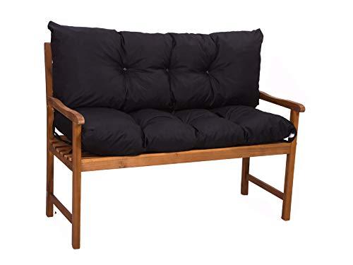 Bankkissen Sitzkissen günstig  gartenkissen  Outdoor sitzkissen   Hollywoodschaukeln-Kissen   sitzkissen Outdoor   sitzkissen Bank (schwarz, sitzkissen:180x50+rückenkissen:180x40cm)
