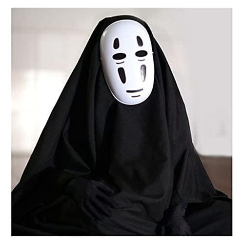 WENMENG2021 disfraz de esqueleto adulto Halloween Anime Hombre sin rostro 3pcs Ropa + Guantes + Máscara Cosplay Disfraces Partido Etapa Traje de rendimiento S-XXL máscara de Batman (Size : B-M)