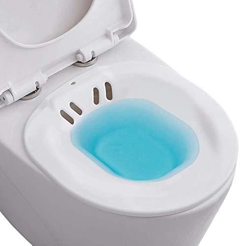 Sitzbad für die Toilette - Bidet Einsatz für Toilette - Tragbares Sitzbadewanne für Hämorrhoidenbehandlung, Wochenbettpflege, Schwangere und ältere Menschen - Vermeiden Kniebeugen (ca. 2,2 Liter)