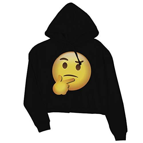 365 Printing Emoji-Thinking - Sudadera con Capucha para Mujer