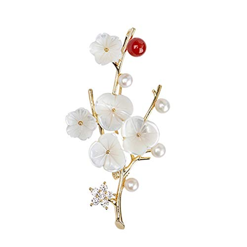 Bellamente Broche de temperamento elegante de la perla de agua dulce en...