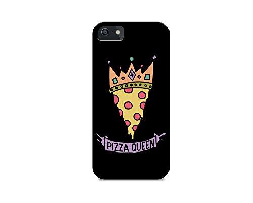 iPhone 6/iPhone 6S TPU Plastic Case - Pizza Queen - Pizza - Quote - Quotes - Pizza Quote - Sassy - Sassy Quote - Black