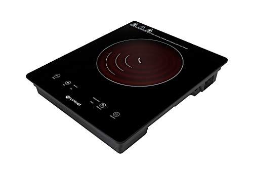 Grunkel - PIN-2000 - Placa de inducción portátil con Controles táctiles y 8 Niveles de Potencia. Autoapagado de Seguridad y Bloqueo Infantil - 2000 W - Negro