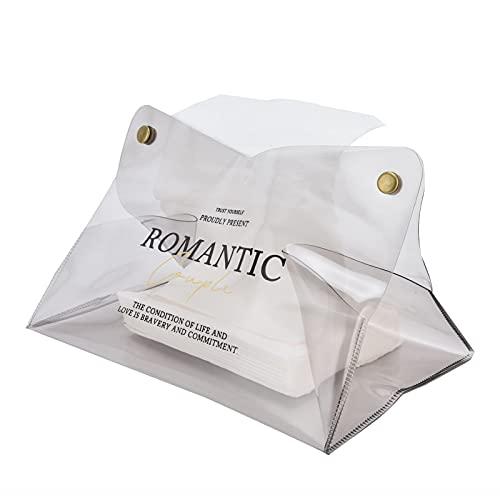 Derya Contenedor de pañuelos Caja de Almacenamiento de servilletas de Escritorio de Moda de PVC Caja para Rollo de Papel y pañuelos Desmontables(#5)