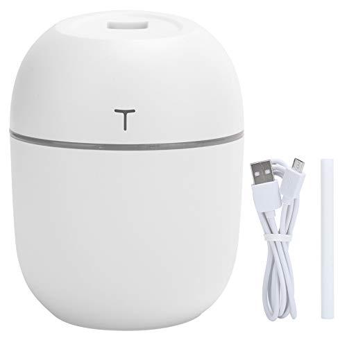 Zerodis Difusor de Aceite Esencial, humidificador de Niebla de 220 ml difusor de aromaterapia tamaño portátil Mni sin Ruido Alimentado por USB luz LED para Coche de Oficina en casa(Blanco)