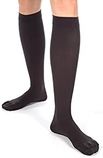 Made in USA Compression Socks for Men 30-40 mmHg - Absolute Support Dress Sox Soft Microfiber X-Firm Medical Support Hose ...