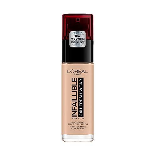 L'Oréal Paris Infaillible 24H Fresh Wear Make-up 110 Rose Vanilla, hohe Deckkraft, langanhaltend, wasserfest, atmungsaktiv, 30ml