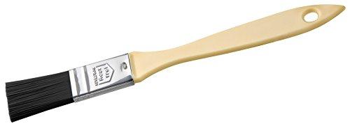 Zenker Teflon®-Backpinsel 21 cm PATISSERIE, Pinsel zum Kochen und Backen, Ideal zum Einfetten und Glasieren, (Frabe: Schwarz/Silber/Creme), Menge: 1 Stück
