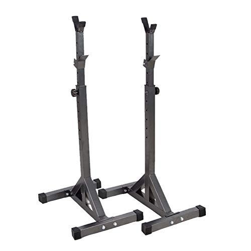 Rack de sentadillas de altura ajustable Rack musculación sentadilla Multifuncional Estante Soporte, para Sentadillas Alto Y Ancho Regulable Barbell Rack Portátil Interior Equipo,Carga máxima 300KG