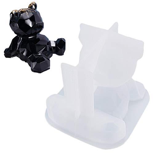 3D Teddybär Silikonform - 3D Bär Epoxidharz Formen - Silikonformen Fondant - Silikon Tier Eiswürfelform - DIY Seifenform Kerzenform für Eiswürfel, Schokolade, Gummi, Kuchen Cupcake Topper Dekor Backen