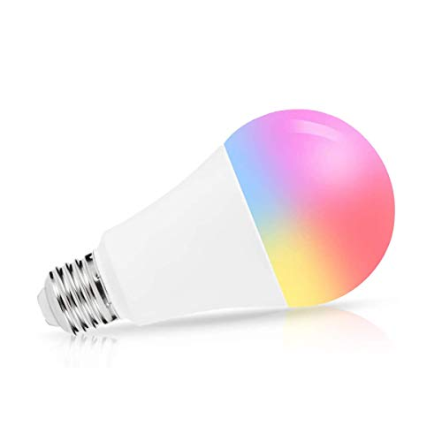 LOHAS Smart Light Bulb, Blue Green Red LED Light Bulbs, A21 Color Changing Lights, 14W(100W Equivalent) 1380LM E26 Cool White RGB Bright Wifi Light, Works with SIRI, Alexa, Google Home No Hub Required