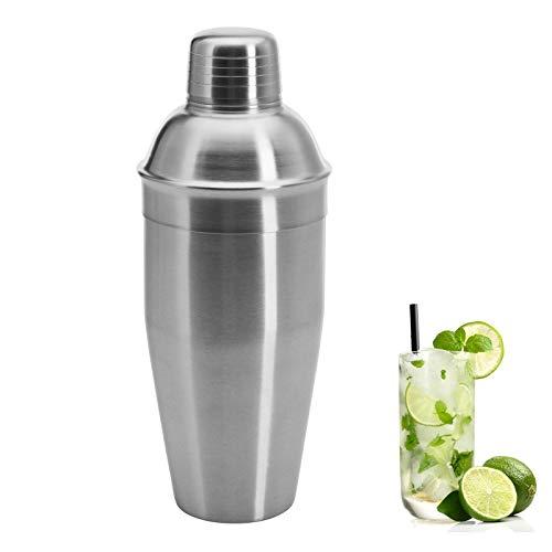 Westmark Cocktailshaker mit integriertem Sieb und Deckel, Füllvolumen: 0,75 Liter, Rostfreier Edelstahl, Silber/Gebürstet, 62832260