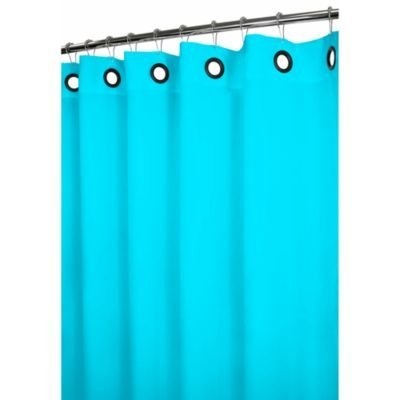 Heavy Duty Magnetized Shower Curtain Liner Turquoise