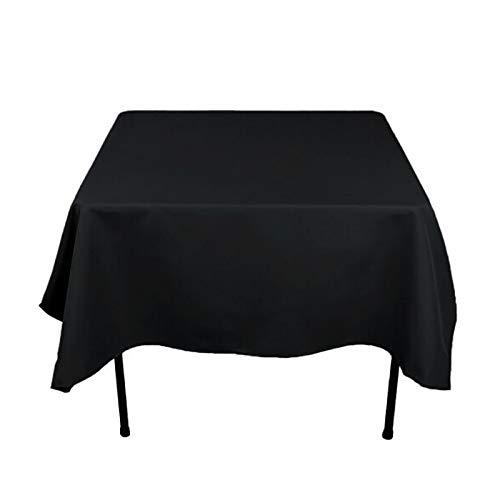 HUIFANG Tissu À Armure Toile Carrée Nappes De Scène De Banquet De Mariage Solide Hôtel Multicolore Couleur Nappe 200x200cm (79x79in) HUIFANG (Couleur : NOIR)