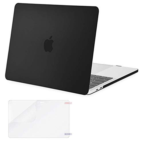MOSISO MacBook Pro 13 inch Case 2020 2019 2018 2017 2016 Release A2289 A2251 A2159 A1989 A1706 A1708, Plastic Hard Shell Case Cover&Screen Protector Compatible with MacBook Pro 13 inch, Black