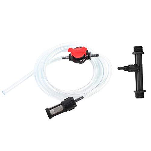 Inyector de Fertilizante de riego, Kit de Dispositivo de riego de jardín G3/4 inyector de Fertilizante + Interruptor + Filtro + Tubo de Agua