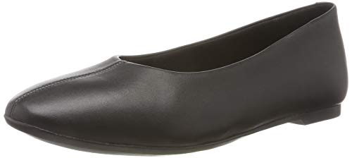 Clarks Damen Chia Violet Geschlossene Ballerinas, Schwarz (Black Leather Black Leather), 40 EU