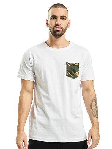 Urban Classics Bekleidung Pocket tee Camiseta, Hombre, Multicolor (Wht/Camo), L