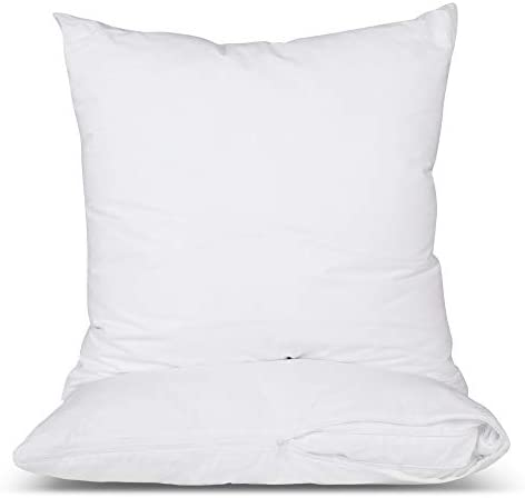 CIRCLESHOME Euro Pillow Protector 100 Cotton Breathable Hypoallergenic Square Pillow Covers product image