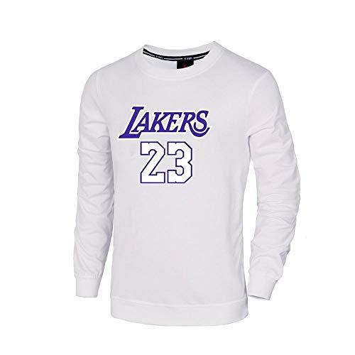 Jersey Deportes Baloncesto T-shirt Kay James Lakers Baloncesto de Manga Larga T-shirt Baloncesto Fan Casual Confort Deportes Traje de Verano Rápido, color Blanco-1, tamaño XXXX-Large