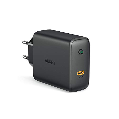 AUKEY USB C Ladegerät mit GaN Tech, 60W Schnellladegerät mit Power Delivery, kompatibel mit, MacBook Pro 13'', iPhone 11 Pro/ 11 Pro Max, Dell XPS 13, HP Spectre, Lenevo Thinkpad, Nintendo Switch usw