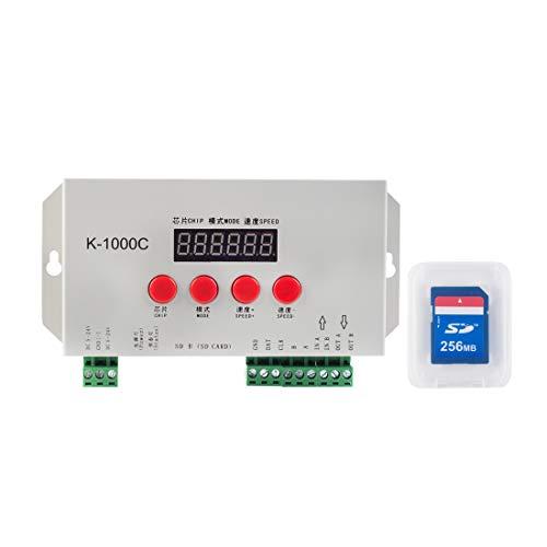 BTF-LIGHTING K-1000C (T-1000S aktualisiert) WS2812B APA102C SK6812 WS2811 WS2801 Led Streifen 2048 Pixel Controller DC5-24V Adressierbarer programmierbarer Controller mit SD-Karte
