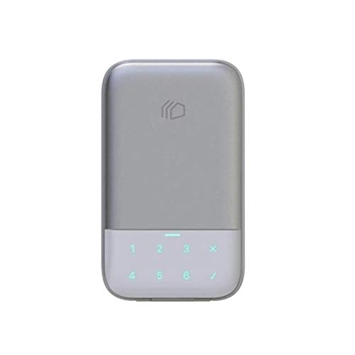 QiHaoHeji Caja de seguridad para llaves de pared con cerradura inteligente BT puede administrar la caja (color: gris, tamaño: un tamaño)