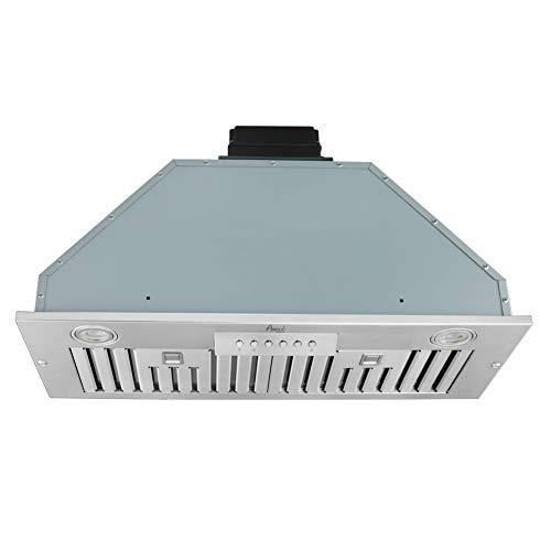 Awoco Built-in/Insert Stainless Steel Range Hood, 4-Speed, 600 CFM, LED Lights, Baffle Filters for Wood Hood (30')
