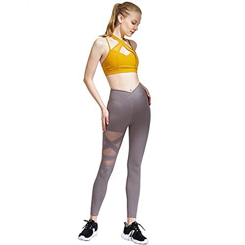 Ropa De Yoga Ropa Deportiva Sujetador Deportivo De Gimnasio De 2 Piezas + Leggings Ropa para Correr Traje Deportivo Ajustado Traje De Mujer XL A01