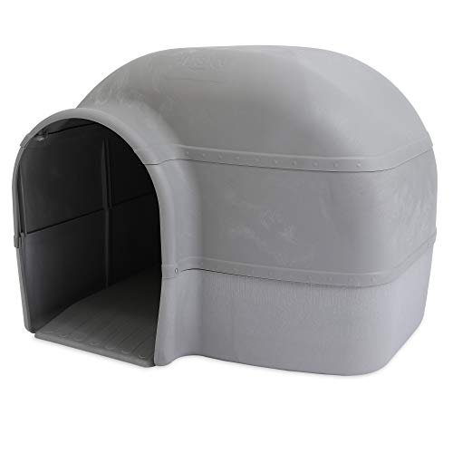 Petmate Husky Dog House for Dogs Up to 90 Pounds, Grey