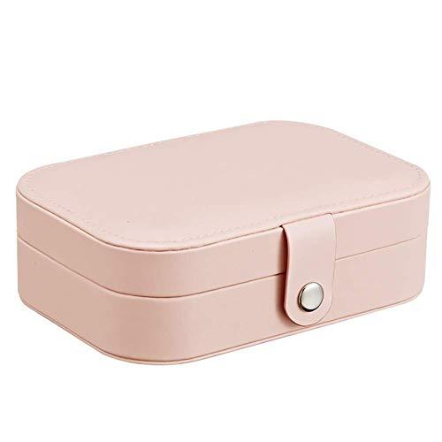 YUNLILI Organizador de Caja de joyería para Pendientes de Collar Pulseras de brazaletes Caja de Almacenamiento de Joyas con para Mujer (Color : Pink)