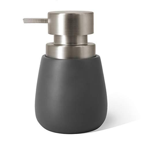 Topsky Dispensador de jabón de resina con bomba de plástico,340 ml dispensador de jabón líquido de manos,bomba inoxidable para cocina y baño,ideal para lociones