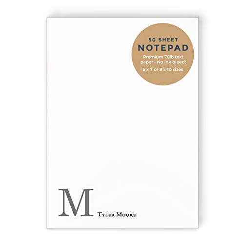 Notepad for Men Personalized Name Notepad Stationery Custom Boy Notepad Business Stationery Simple Notepad Personalized Notepad Boys