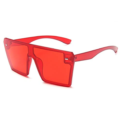 NBJSL Gafas De Sol Cuadradas De Moda Para Mujeres, Hombres, Gafas De Sol De Gran Tamaño Con Tonos Vintage (Caja De Embalaje Exquisita)