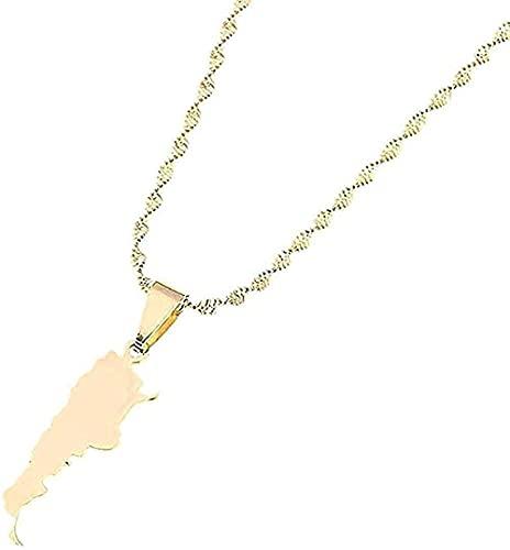 Collar Repubblica Irak Colgante Colgante Collar de Color Oro Alá Nombre Colgante Alá Corazón Joyería Regalos