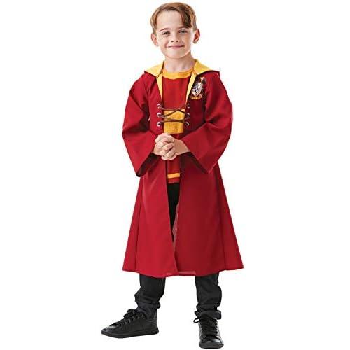 Rubie's, costume ufficiale di Harry Potter Quidditch, per bambini, taglia media età 5-6 anni