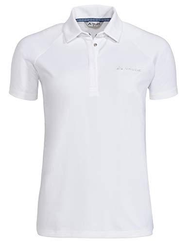 VAUDE Damen T-shirt Women's Skomer Polo Shirt, white, 42, 413170010420