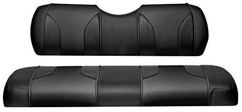 MODZ FC2 Club Car DS 2000.5-Up Custom Front Seat Covers - Black/Black