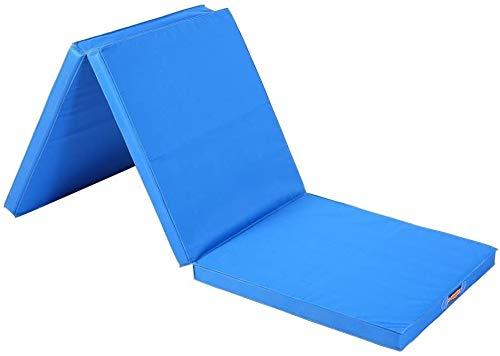 FLYTYSD Colchoneta De Gimnasia, Yoga Plegable 5 Cm De Espesor Tumble Mat, Paño De Oxford 180X60x5cm Pilates Mat Ejercicio Ideal para Yoga, Choque, Pilates, Azul