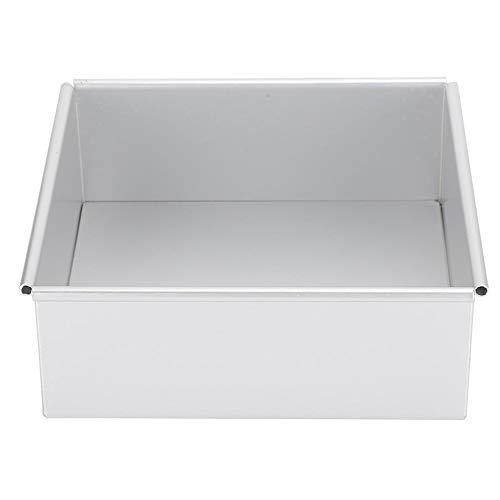 Anodisierte Aluminium quadratische Form Backform Kuchenform Mousse Kuchen Brotform mit abnehmbarem Boden für die Küche zu Hause