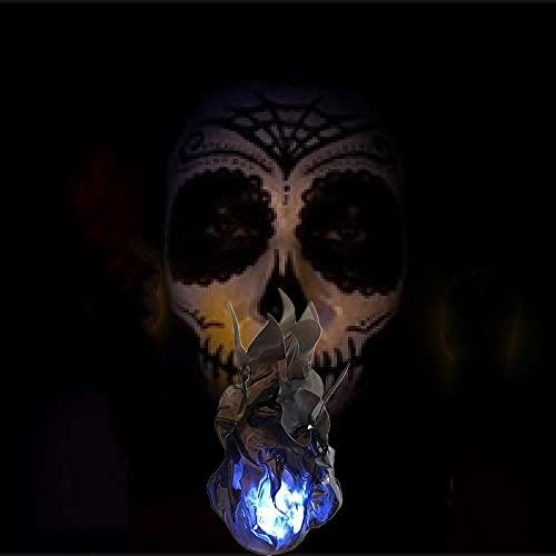 Accesorio de bola de fuego flotante, accesorios de convención de bola de fuego flotante iluminada, accesorios únicos de bola de fuego flotante luminosa de Halloween, accesorios únicos de bola(negro)