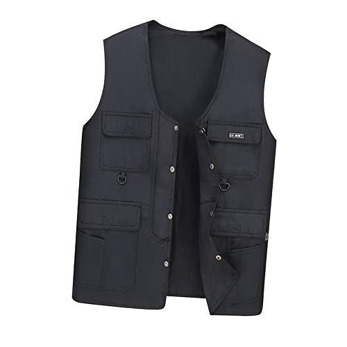 Vest THBEIBEI Mens Waistcoat Multi-pocket Outdoor Vissen Ademend Jas Voor Fotografie Camping Jacht Gilets Draagbaar In Alle seizoenen Werk Kleding (Kleur : Blauw, Maat : XL)