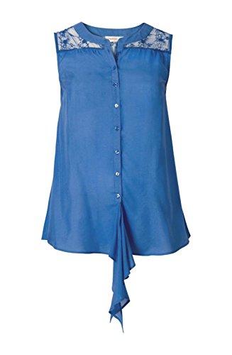 Sheego Damen Bluse mit Spitze, Royalblau, Größe:46