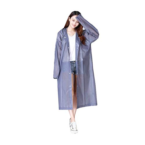 DongYuXuXi mode Eva vrouwen regenkleding verdikt waterdicht regenjas vrouwen helder transparant tour waterdicht regenkleding pak grijs