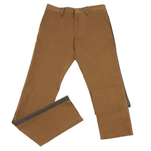 Etro 6790AA Pantalone uomo Slim FIT Cotton Brown Trouser Man [46]