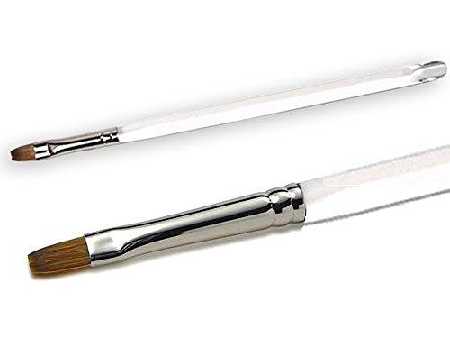 KOLINSKY Pinceau à gel plat et droit avec manche en acrylique et poils naturels Taille 4