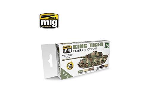 Ammo MIG-7166 King Tiger kolor zewnętrzny (Special Takom Edition) Vol.2 zestaw farb akrylowych, wielokolorowy