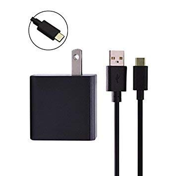 Superer USB Type C Charger Fit for Microsoft Lumia 950 950XL Smartphone Phone with 5Ft Power Supply Adapter Cord Charging Data Cable