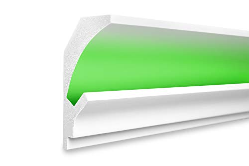 1,15 m   LED Profil   XPS   indirekte Beleuchtung   Trockenbau   lichtundurchlässig   Rigips   Tesori   150x90mm   KD202