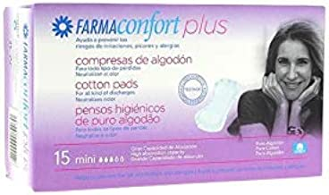 FARMACONFORT PLUS COMPRESAS DE ALGODON MINI 15 C: Amazon.es: Salud ...